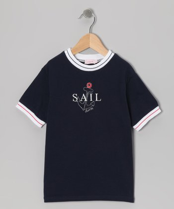 Navy 'Sail' Tee - Toddler & Boys