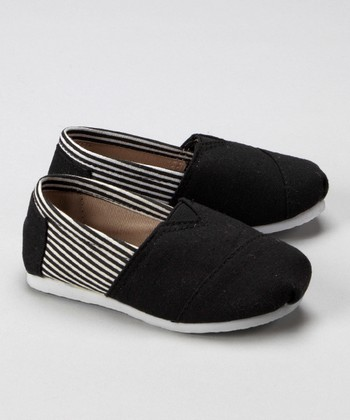 Black & White Stripe Shoe