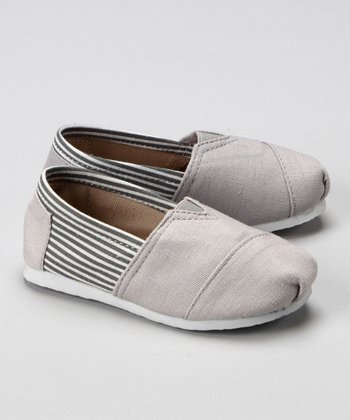 Gray & White Stripe Shoe