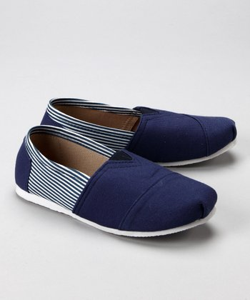 Navy & White Stripe Shoe