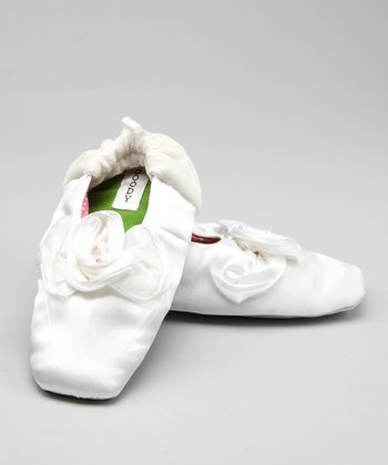 Rose White Slipper