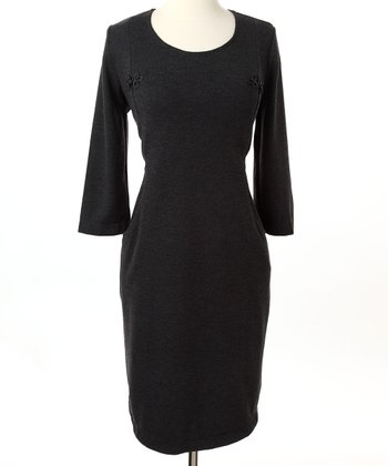 Charcoal Signature Nursing Dress