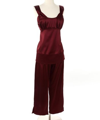 Chianti Satin Nursing Pajamas
