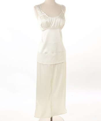 Pearl Satin Nursing Pajamas