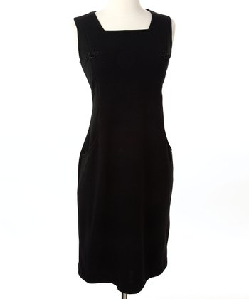 Black Signature Nursing Sheath Dress
