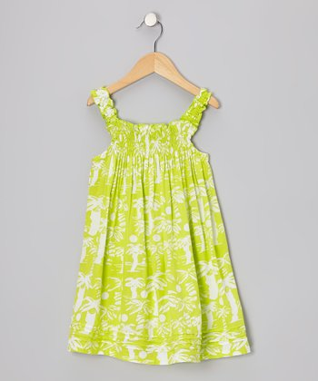 Lime Green Island Life Kaitlin Dress - Infant, Toddler & Girls