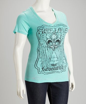 Mint Graphic Short-Sleeve Top - Plus