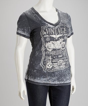 Charcoal Burnout Tee - Plus