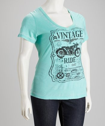 Mint Burnout Tee - Plus