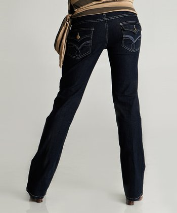 Denim V-Flap Maternity Jeans