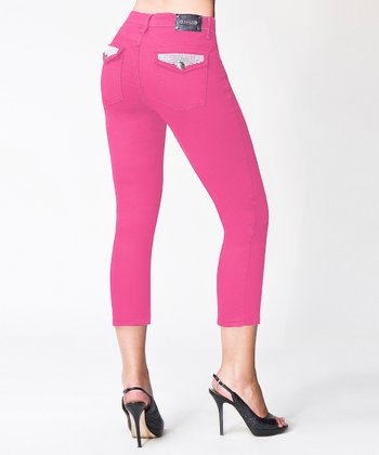 Hot Pink San Francisco Skinny Capri Pants