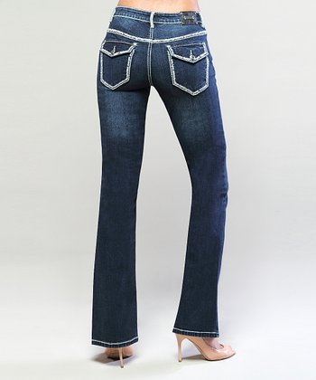 Dark Wash Boston Bootcut Jeans
