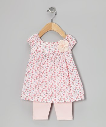 Peach Daisy Tunic & Leggings - Infant
