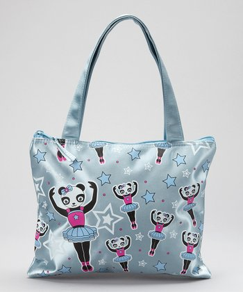Light Blue Panda Ballet Tote