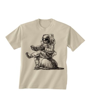Skip N' Whistle Tan Astronaut Reading Tee - Toddler & Boys