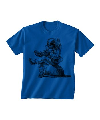 Skip N' Whistle Royal Astronaut Reading Tee - Toddler & Boys