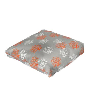 Citrus Coral Indoor/Outdoor Floor Pillow