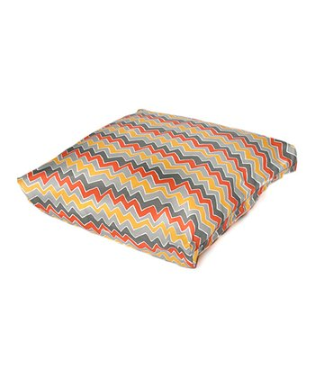 Citrus Zigzag Indoor/Outdoor Floor Pillow