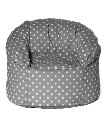 Gray Polka Dot Outdoor Mushroom Chair