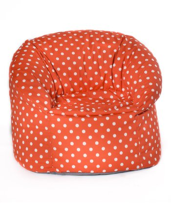 Orange Polka Dot Outdoor Mushroom Chair