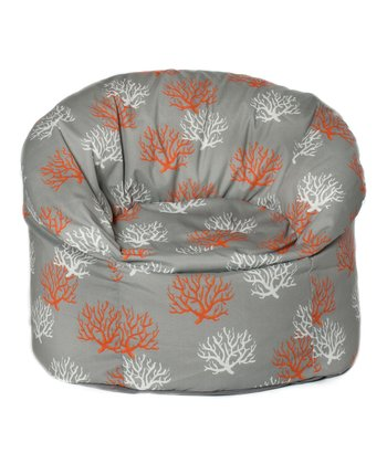 Citrus Coral Outdoor Mushroom Chair