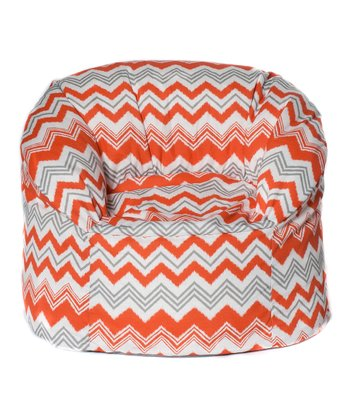 Orange Zigzag Outdoor Mushroom Chair