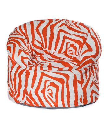 Orange Zebra Outdoor Mushroom Chair