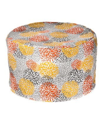 Citrus Bloom Outdoor Pouf