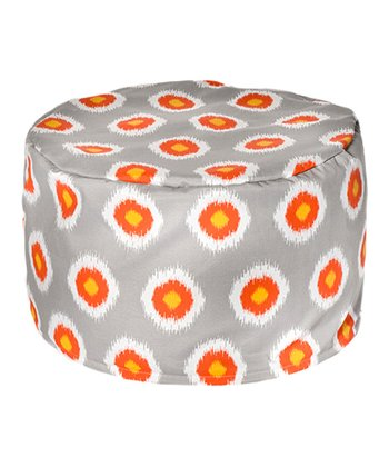 Ikat Domino Outdoor Pouf