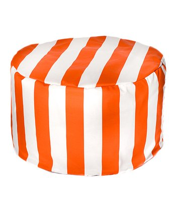 Orange Cabana Outdoor Pouf