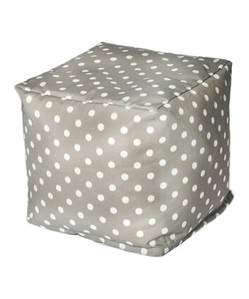Gray Polka Dot Outdoor Cube