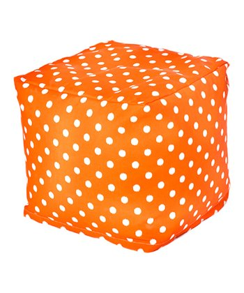 Orange Polka Dot Outdoor Cube