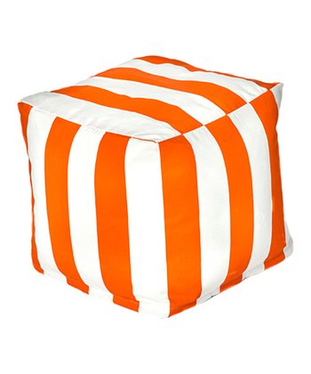 Orange Cabana Outdoor Cube