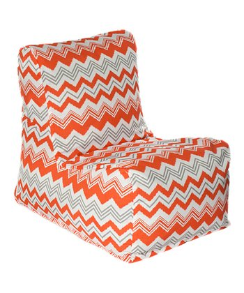 Orange Zigzag Outdoor Chair