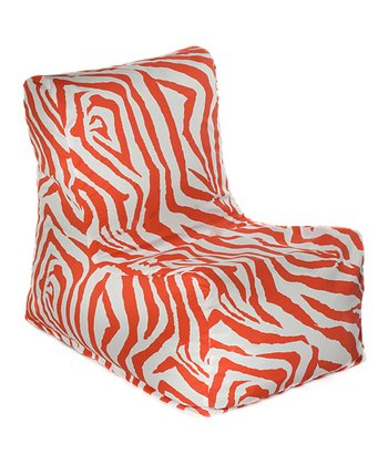 Orange Zebra Outdoor Chair