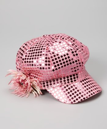 Pink Sequin Diva Newsboy Hat