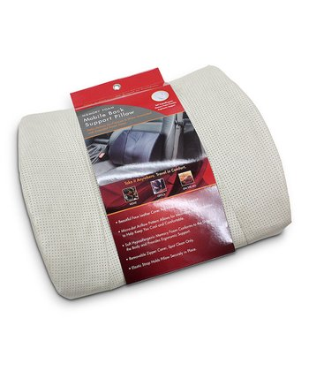 Tan Memory Foam Mobile Back Support Pillow