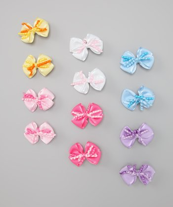 Pastel Mini Bow Clip Set