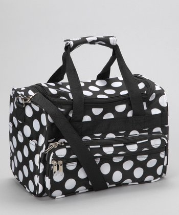 Black & White Polka Dot Duffel Bag