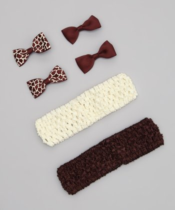 Brown Headband Set