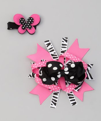 Pink Boutique Bow Clips