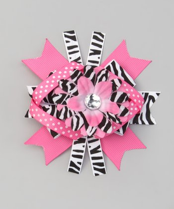Pink Zebra Boutique Bow Clip
