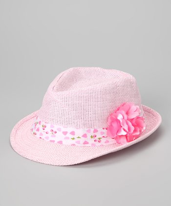 Light Pink Flower Fedora