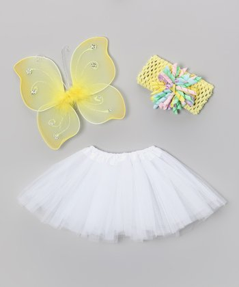 Yellow Baby Girl Wings Set - Infant