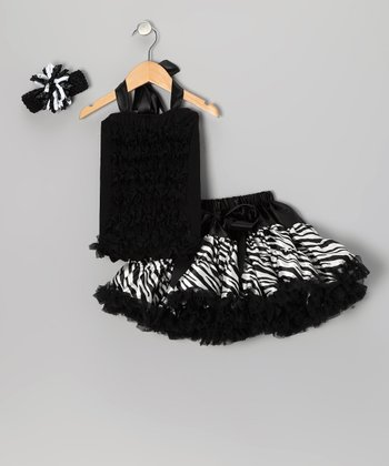 Black Zebra Pettiskirt Set - Infant & Toddler