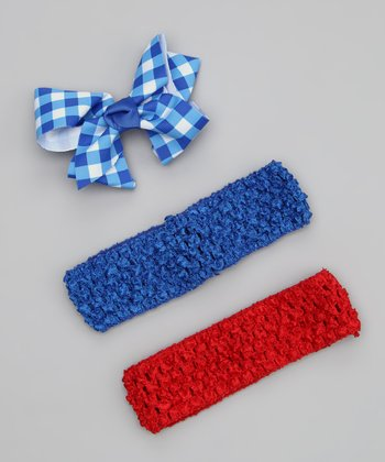 Blue & Red Headband Set