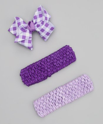 Lavender & Purple Headband Set