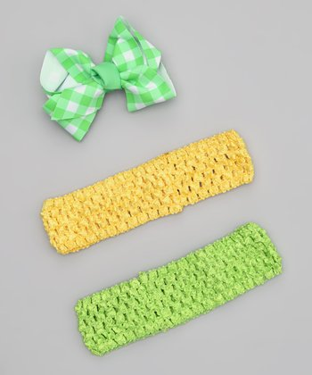 Green & Yellow Headband Set