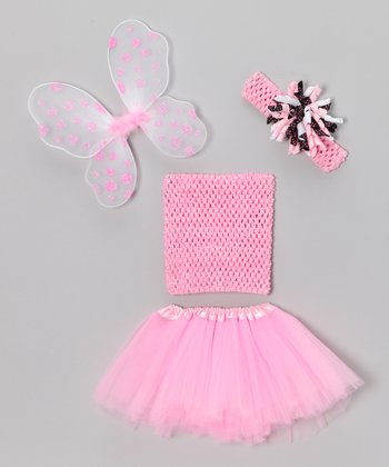 Pink Wing Tutu Set - Infant