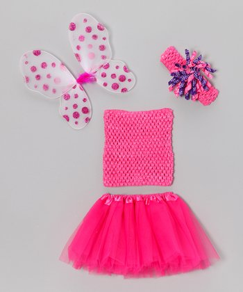 Hot Pink Wing Tutu Set - Infant